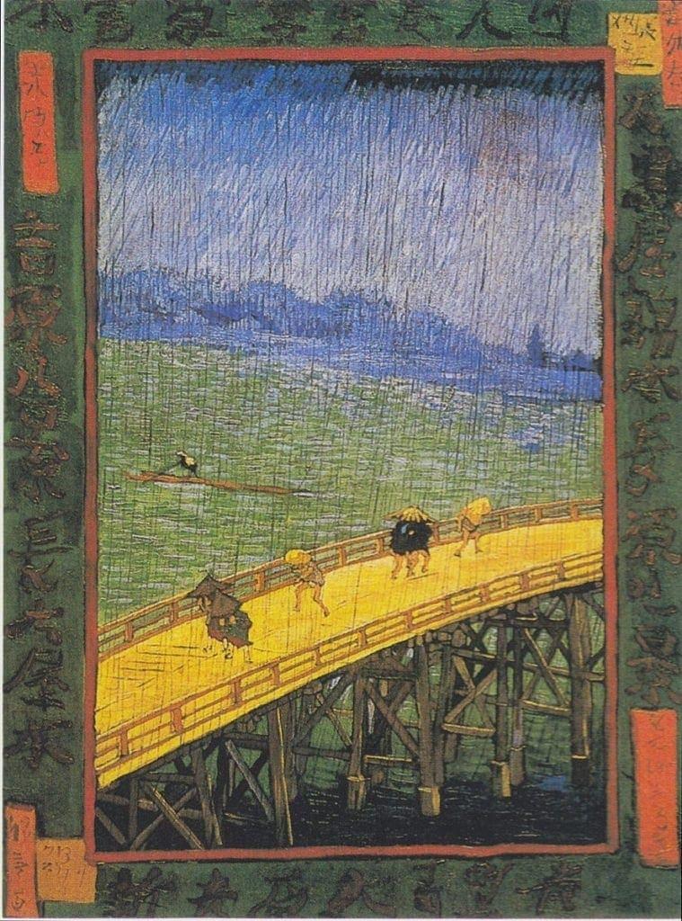 Van Gogh, Bridge in the rain, after Hiroshige 1887