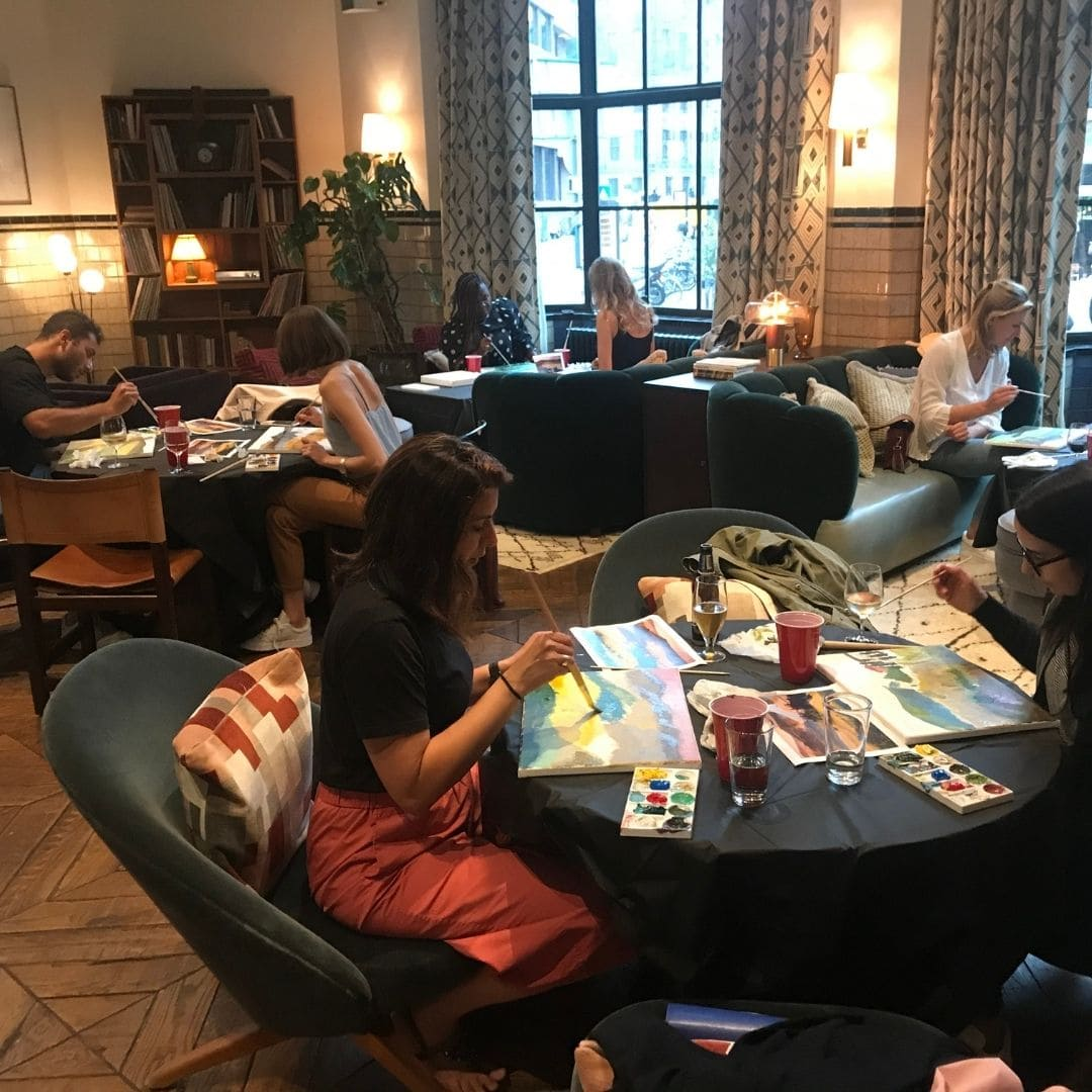Business Art Workshop with the Soho House members