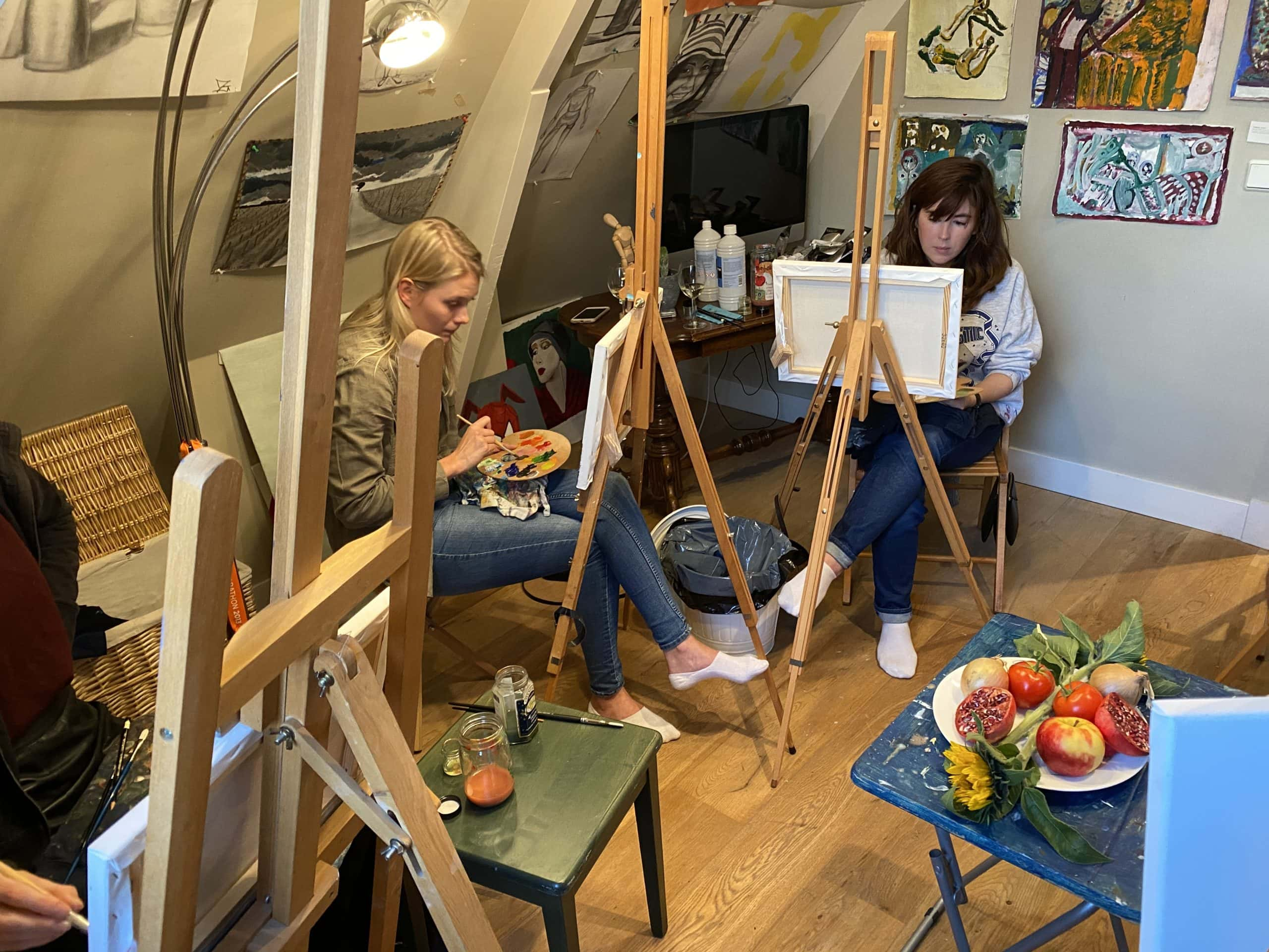 st-Art art workshop for businesses at Soho House